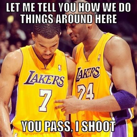Funny Kobe Memes - nba ref memes kobe bryant needs to shoot the ball meme