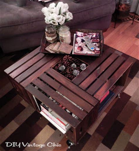 Mesa de centro con cajas de madera   Guía de MANUALIDADES