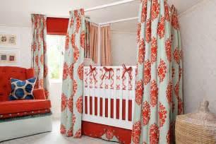Crib Curtains by 15 Cheerful Modern Orange Nursery Ideas To Welcome Fall