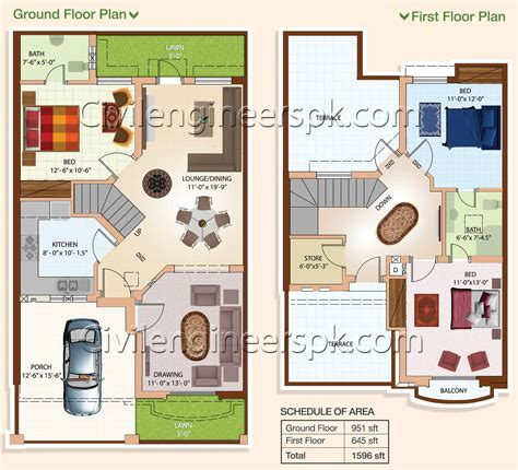 3d home design 5 marla 5 marla house floor plans home deco plans