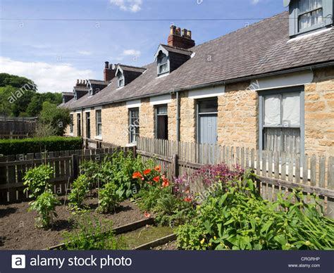 Beamish Cottages by A Row Of Miner S Cottages With Vegetable Gardens In The
