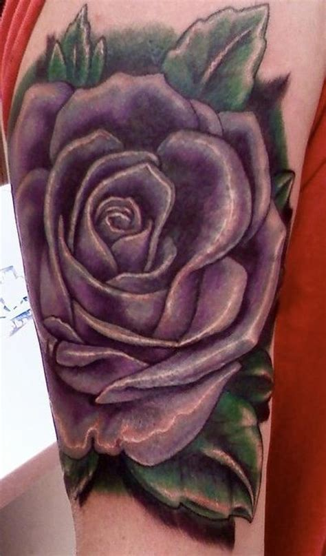 purple tattoo purple rose tattoo by ryan nutini tattoonow