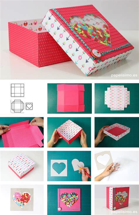 como decorar una caja de carton regalo cajas de regalo shaker con plantillas y medidas papelisimo