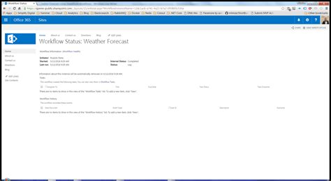 sharepoint stop workflow getting the weather forecast using sharepoint workflows