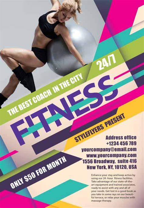 fitness flyer templates 80 creative modern free business flyers templates page