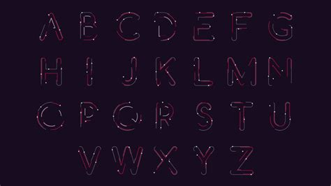 typography animation snake alphabet typography animation design ideas