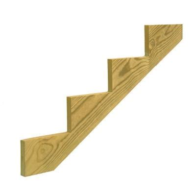 4 step pressure treated pine stair stringer 106070 the