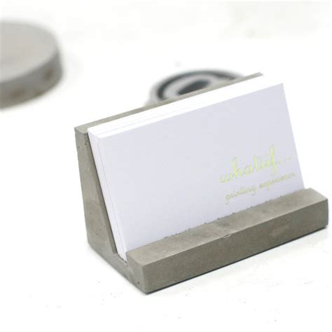 concrete business cards concrete business card holder concrete stationary industrial