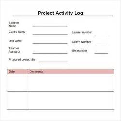Daily Work Log Template Microsoft Excel by Work Log Template 5 Free Pdf Doc