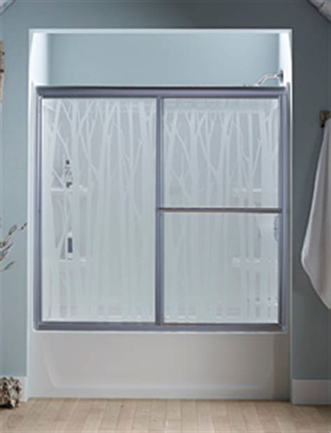 Sterling Glass Shower Doors by Sterling Nature Inspired Glass Shower Door 2014 04 22 Plumbing And Mechanical