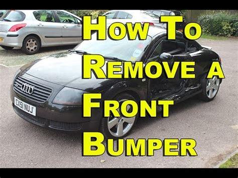 Audi Tt Front Bumper Removal Audi Tt Front Bumper Removal 99 05