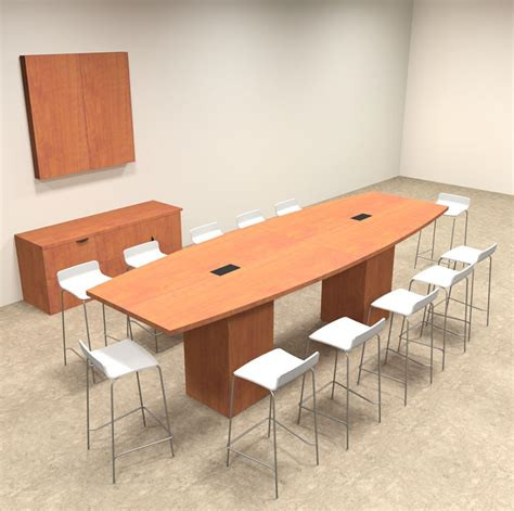 Bar Height Conference Table Boat Shape Counter Height 12 Conference Table Of Con Ct8 Ebay
