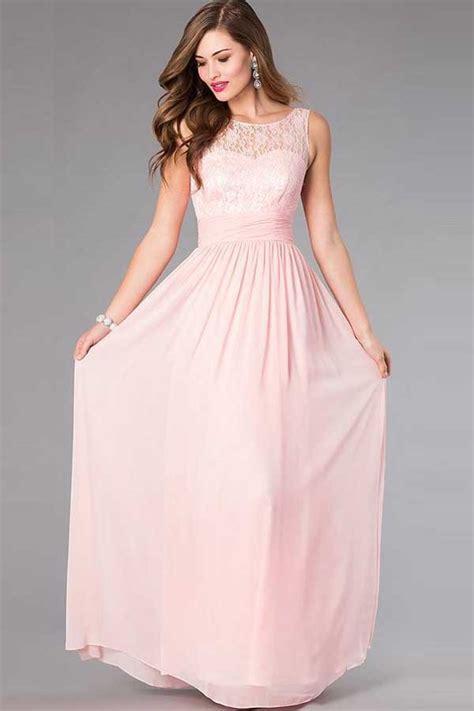 Dress Chiffon 600 By light pink lace accent chiffon maxi dress 025525