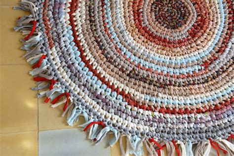 Softest Rug Material by Beautiful Rag Rug Fabric Crocheted Rug In Soft Colors By