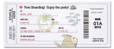 boarding pass ticket standard1 custom passport invitations