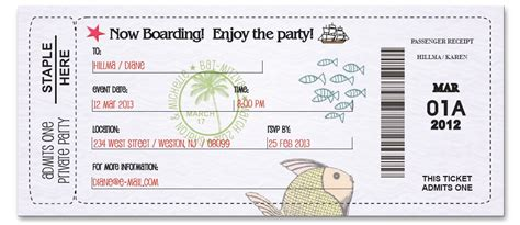 boarding pass template cake ideas and designs