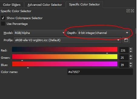 hex color selector does krita a hex color selector where do i find it