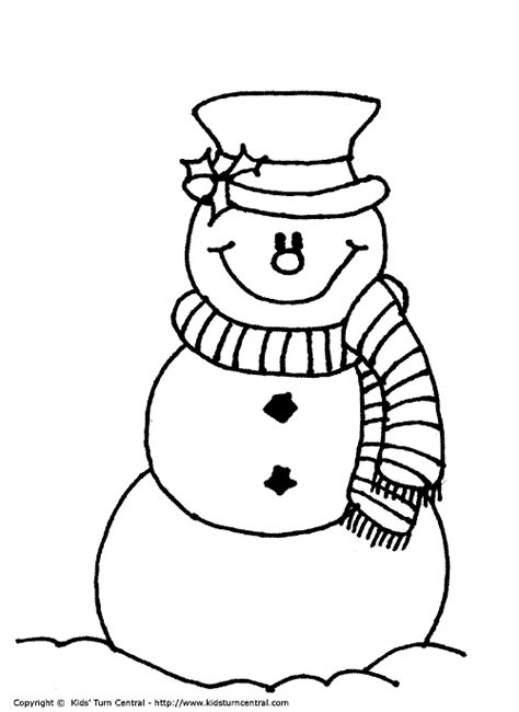 frosty the snowman color page christmas coloring pages
