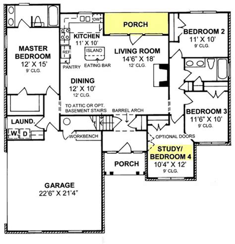 Split Floor Plan House Plans 655835 Traditional 4 Bedroom 2 Bath With Split Floor