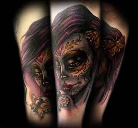 tattoo girl of the day day of the dead moth girl tattoo by kelly doty tattoos