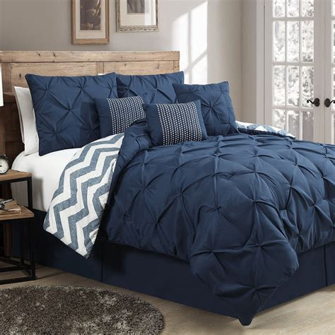 queen size bed comforter set what will you get when choose queen size navy blue bedding