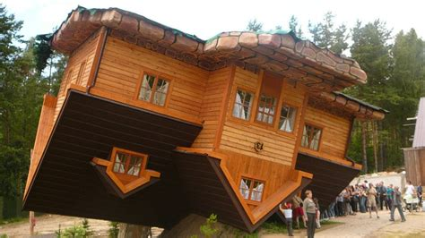 upside down house poland world s first upside down house in szymbark poland youtube