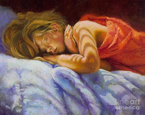 sleeping in a room after painting child sleeping print wall room decor painting by patti