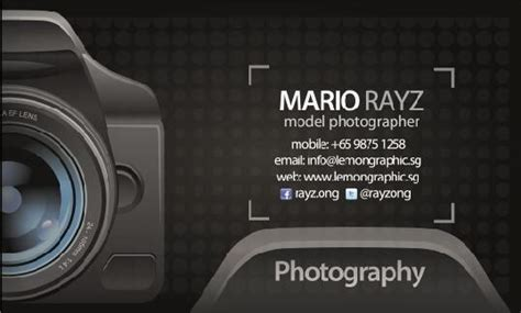 photographer id card template photographer business card psd template free