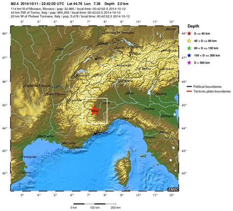 regionale europea pinerolo terremoto in provincia di torino scossa avvertita tra