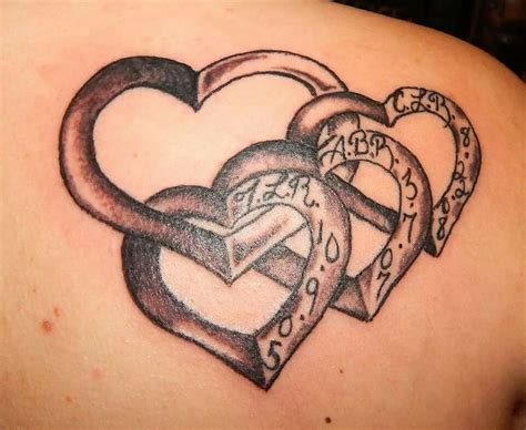 tattoo meaning love for child main heart with hearts of your children hanging off of