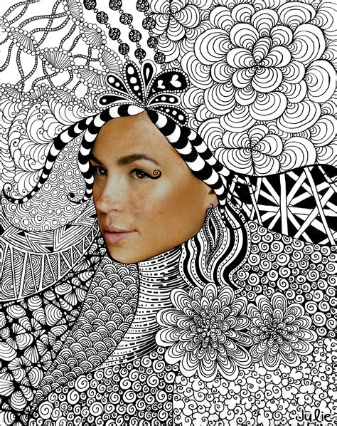 zen magazine s was designed by who zentangle face julie erin designs