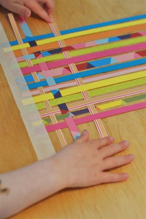 Paper Weaving Crafts - paper weaving great idea for repurposing all the