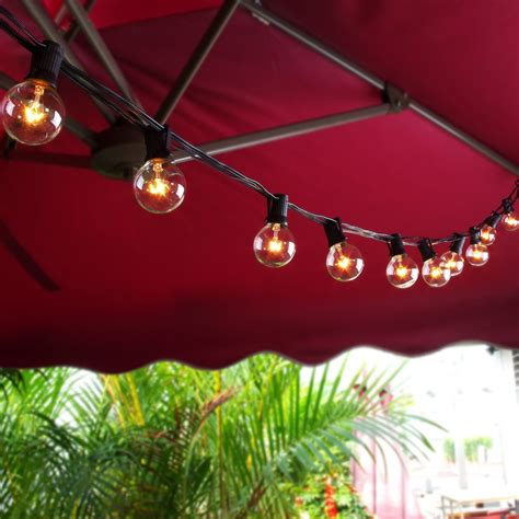 Zitrades Globe String Lights With G40 Bulbs Ul Listed 25ft G40 String Lights