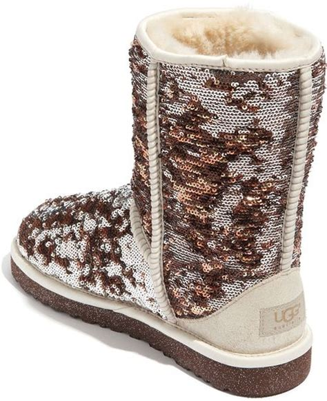 ugg sparkle boots ugg ugg 174 australia classic sparkles camo boots in brown