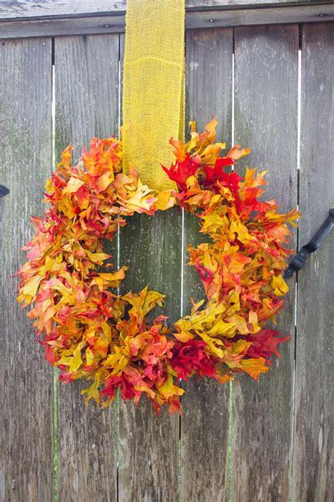 Diy Fall Wreaths Design Ideas 15 Diy Ideas For Autumn Leaves Pioneer Settler