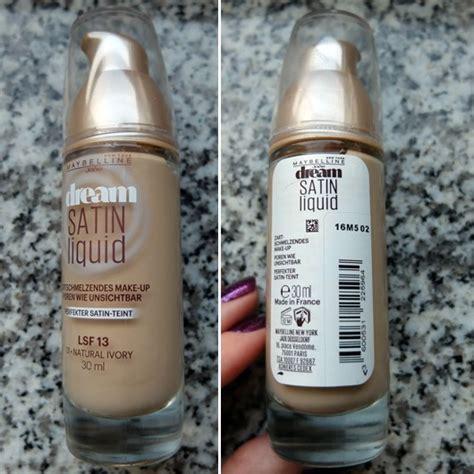 Maybelline Satin Foundation test foundation maybelline satin liquid make up