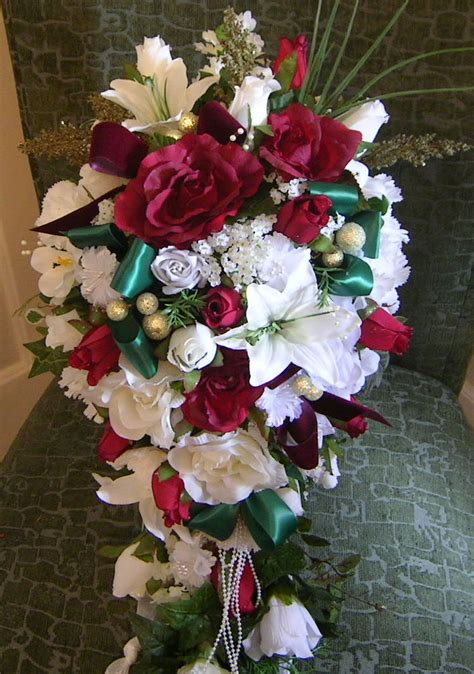 silk flowers for christmas