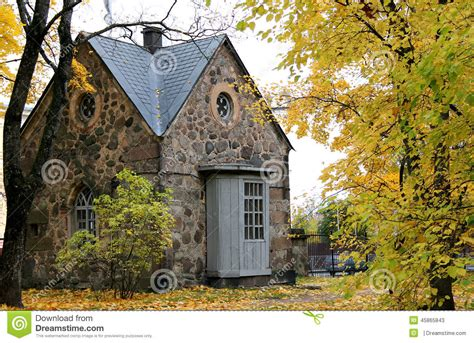 stone cottage in the woods wood and stone house exteriors old stone cottage in the woods stock image image 45865843