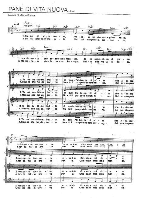 il pane cammino testo spartiti dei canti