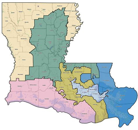 louisiana district map redistricting part iii us house jmc