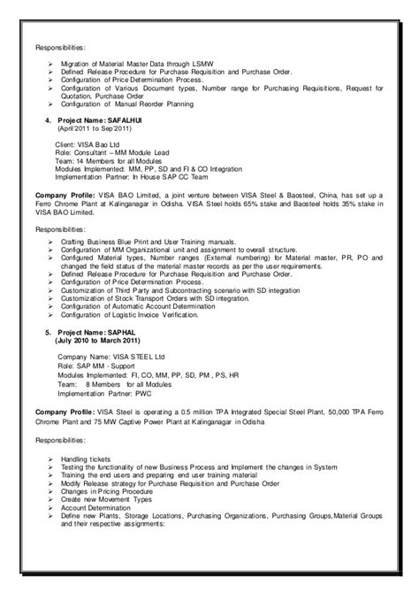 fantastic sap resume pp module contemporary resume ideas