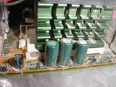 electrolytic capacitor bulging bad abit bp6 aluminum electrolytic capacitors