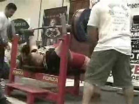 bench press 600 lbs josh bryant 600 75 lb bench press youtube