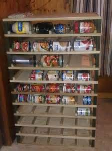 canned food storage rack was fairly easy to make works