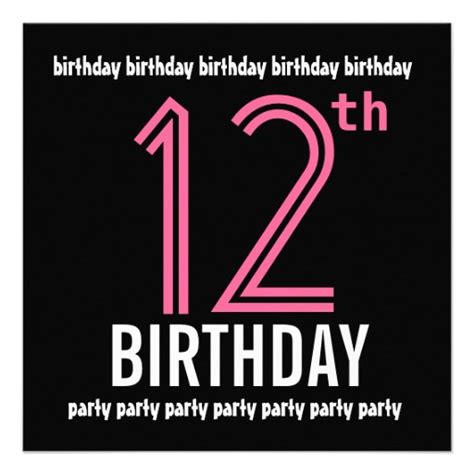 printable birthday invitations for 12 year olds free printable 12 year old birthday invitations drevio