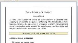 farm lease agreement template farm lease agreement