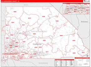 us postal service zip code map by county san bernardino county ca zip code maps line style