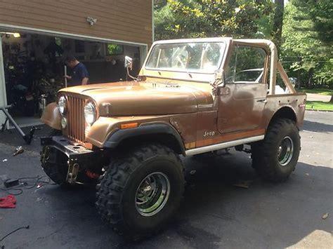brown jeep cj7 buy used 1979 jeep cj7 401 in scotch plains new jersey
