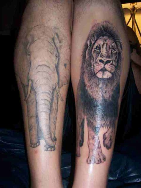 full body elephant tattoo lion and elephant tattoo design design of tattoosdesign