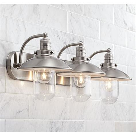 edison bulb bathroom fixture downtown edison 28 1 2 quot wide brushed nickel bath light
